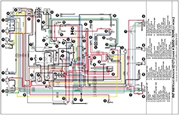 [SCHEMATICS_48IU]  Amazon.com: Full Color Laminated Wiring Diagram FITS 1967 & 1968 Volvo  Amazon 123GT Color Wiring Diagram 18