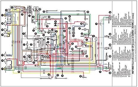 Amazon.com: Full Color Laminated Wiring Diagram FITS 1967 & 1968 Volvo  Amazon 123GT Color Wiring Diagram 18