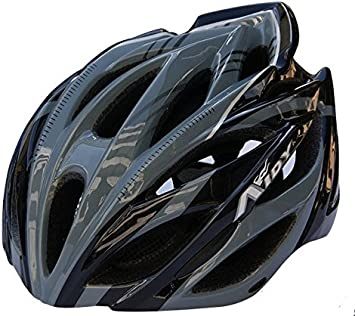 QWG AIDY-Casco adulto bicicleta de montaña equitación Auriculares Cascos bicicletas Sombrero de equitación, color gris: Amazon.es: Deportes y aire libre