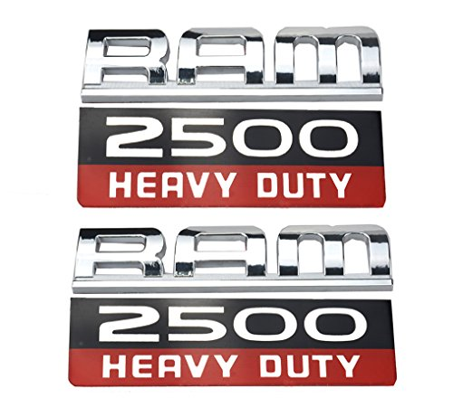 Heavy Duty Emblem,3D ABS Stickers Nameplates Badge Decal ForRam 2500 (2) ()