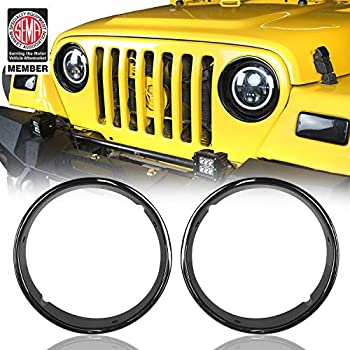 Smittybilt 5660 Euro Black Headlight Cover for 1997-2006 Wrangler TJ