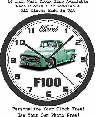 1956 FORD F100 PICKUP TRUCK WALL CLOCK-FREE USA SHIP!