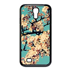 Kweet Flower Samsung Galaxy S4 Case Blossom Tree Against a Blue Sky, Flower, {Black}