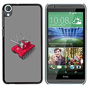 Be Good Phone Accessory // Dura Cáscara cubierta Protectora Caso Carcasa Funda de Protección para HTC Desire 820 // Swiss Army Tank