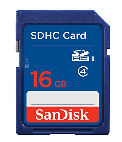SanDisk 16GB Class 4 SDHC Flash Memory Card- SDSDB-016G (Label May Change)