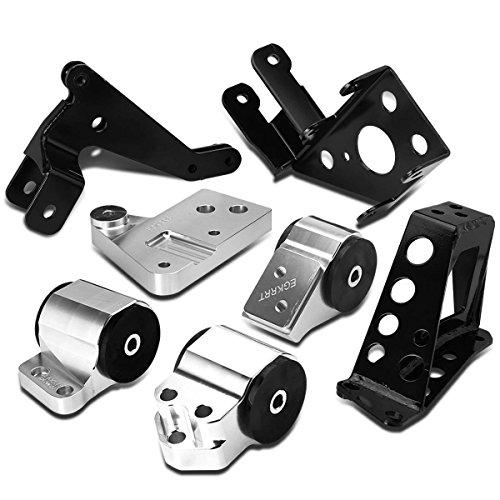For Civic/Del Sol/Integra K-Series Swap Billet Aluminum Engine Mount Kit w/Bracket (Billet Mount Replacement Kit)