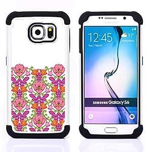 - Pink Clean White Minimalist Girl/ H??brido 3in1 Deluxe Impreso duro Soft Alto Impacto caja de la armadura Defender - SHIMIN CAO - For Samsung Galaxy S6 G9200