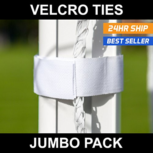 Soccer Net Velcro Ties (Pack of 40) - Attach Net to Goal in Seconds! [Net World Sports]