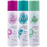FDS Intimate Deodorant Spray All Day Freshness Variety Pack, Shower Fresh and Delicate Breeze, 2 Ounce Bottles, 3 Count