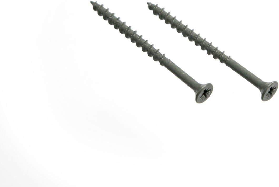 100 x POZI Cross Head DECKING Screws Rust Resistant Green 4.5 X 75MM
