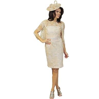 Kelaixaing Scoop Neck Bridal Mother Dresses Wedding Lace With Coat