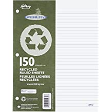 Hilroy Recycled Refill Paper, 8-3/8 X 10-7/8 Inches, 3-hole Punched, College Ruled, White, 150-count (05470)