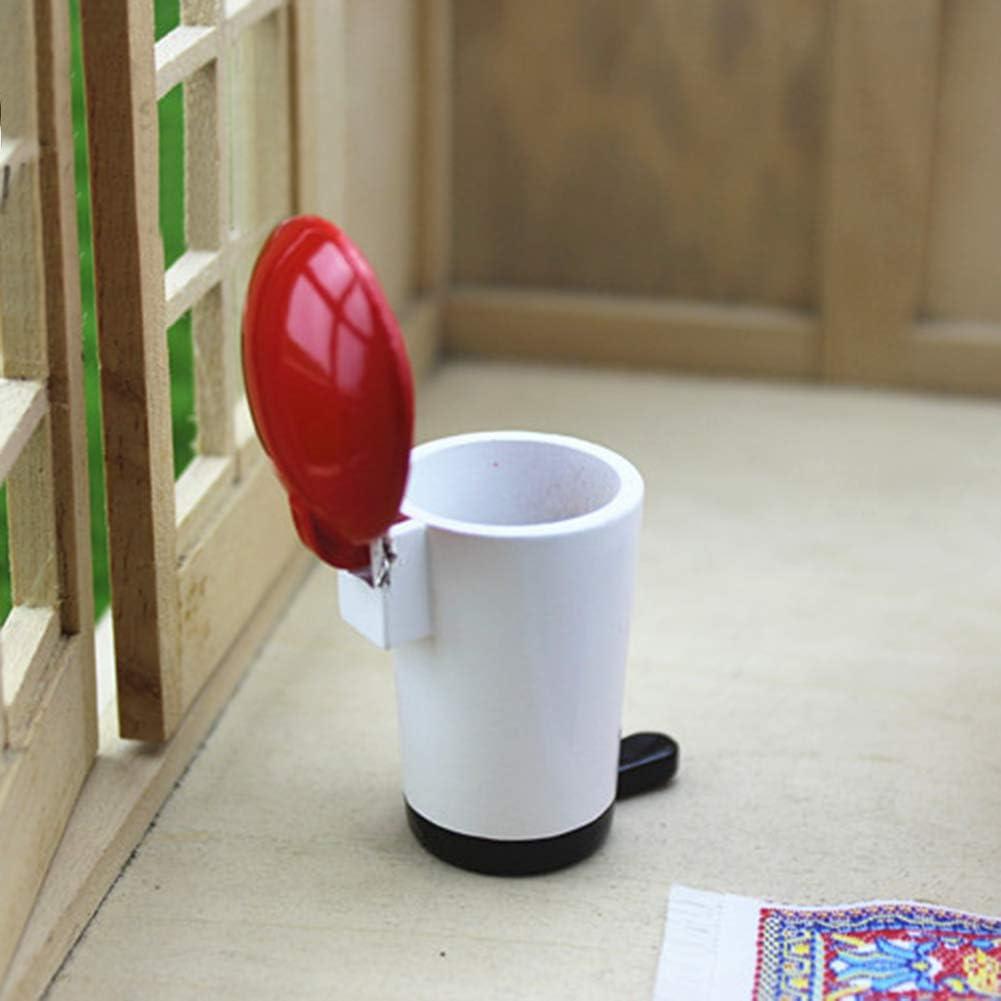 RIsxffp Mini-M/ülleimer aus Holz M/ülltonne Puppenhaus Modell Miniatur Dekoration Spielzeug Mehrfarbig