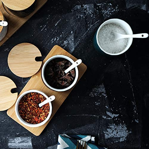 Dodola Ceramics Sugar Bowl Condiment Pots With Lid And Spoon Giraffe Dla230 Dining Entertaining Zuiverlucht Cream Sugar
