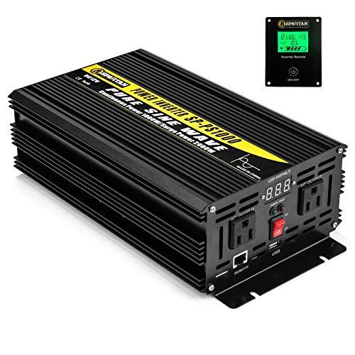 1000 Watt Pure Sine Wave Power Inverter by Spartan Power SP-PS1000 12V to 120V AC