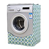 Washing machine cover waterproof Sunscreen Thicker fabric Zipper design for easy use(Green)
