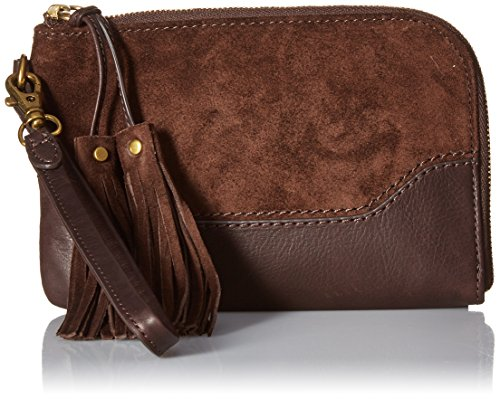 FRYE Paige Wristlet, Dark Brown by FRYE