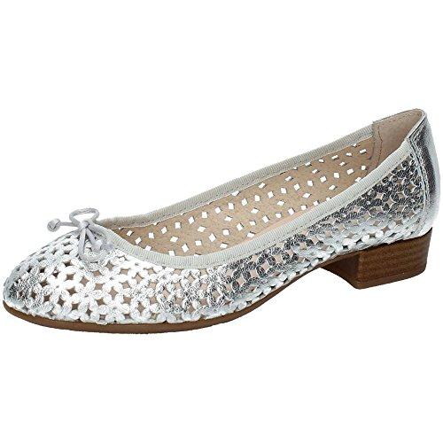 Piel Plata Aback Zapatos Mujer V16 2130 SALÓN Manoletinas qR0SwBzIx