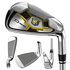 Wilson Staff Men's D200 IronsIncredible Ball Speed, Unbelievable DistanceThe new D200 irons from Wilson Suse Speed Sole Technology to create a thinner transition from the face to the sole of each club. This delivers more face response for dri...