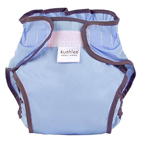 Kushies Waterproof Diaper Wrap, Cornflower Blue Solid, Infant