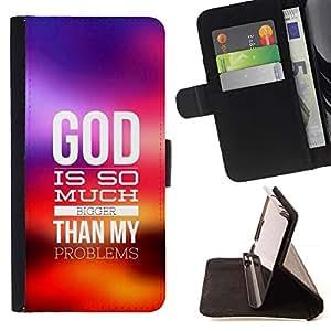 Momo Phone Case / Flip Funda de Cuero Case Cover - BIBLIA Dios es mucho más grande; - Samsung Galaxy S3 III I9300