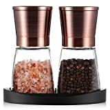 Pepper Grinder, Salt and Pepper Mills with Silicone Stand (2 pcs)...