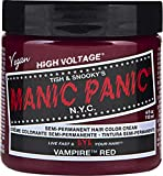 Manic Panic Vampire Red Color Cream – Classic High Voltage - Semi-Permanent Hair Dye - Vivid, Red Shade - For Dark, Light Hair – Vegan, PPD & Ammonia-Free - Ready-to-Use, No-Mix Coloring