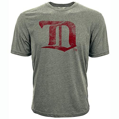 Levelwear NHL Detroit Red Wings Mens Richmond Vintage Distressed Tee, Steel Grey, X-Large