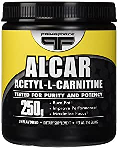 Primaforce, Alcar Acetyl-L-Carnitine Powder, Unflavored, 250 Gram