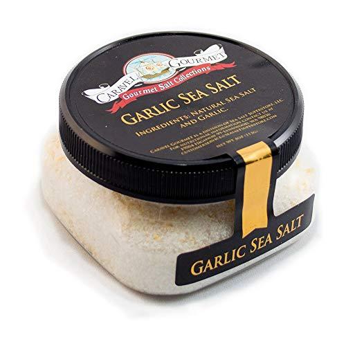 Gourmet Garlic Sea Salt - All-Natural Sea Salt Blend with Dried Minced Garlic - No Gluten, No MSG, Non-GMO - Cooking and Finishing Salt - 4 oz. Stackable Jar