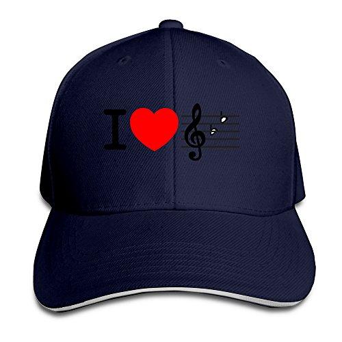 i-love-music-unisex-100-cotton-adjustable-trucker-hat-navy-one-size