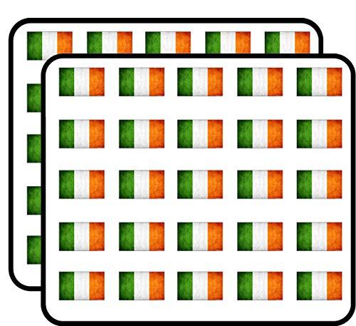 - Vintage Ireland Flag (Old Distressed Irish) Sticker for Scrapbooking, Calendars, Arts, Kids DIY Crafts, Album, Bullet Journals
