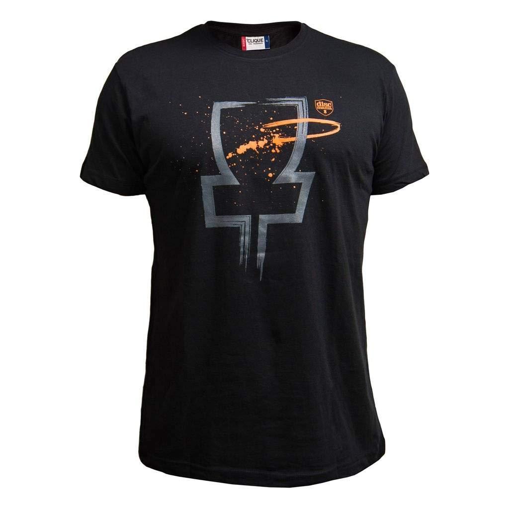 Discmania ブラスト半袖ディスクゴルフTシャツ B07J3YBMJK ブラック Medium