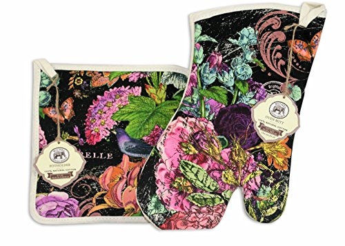 Michel Design Works Garden Botanical Garden Oven Mitt and Potholder - Mitt Oven Garden