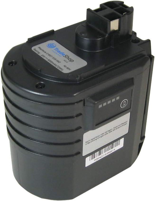 Trade-Shop–Batería de Ni-Mh para herramientas 24V 3000mAh, equivalente a Würth WA l50-b-24V wa24V 07023009240702300924apbo/SL 24V apbo/sl24V ABH 20SLE ABH20de SLE ABH 20sle 070232020