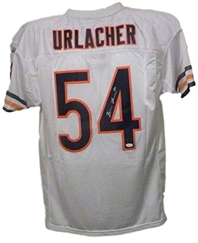 Brian Urlacher Autographed Chicago Bears White Reebok XL Jersey JSA ... 1c8910bb1