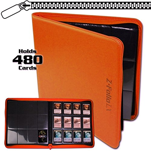 8 Z Folio 480 Playsets 1 of each Color Black Blue Red Green White Orange Purple and Brown by BCW