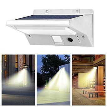 Solar Wall Lights IThird 3 5W LED Motion Sensor Lamp Sconces 3 Modes Solar P