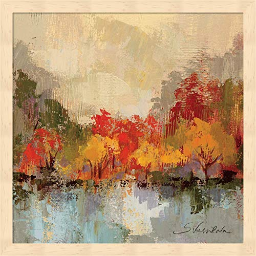 Fall Riverside II by Silvia Vassileva Fine Art Print with Wood Box Frame and Glass Cover, 15 x 15 inches
