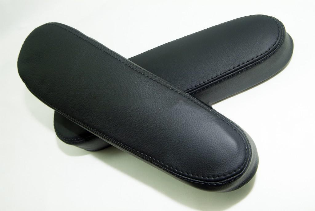 Fits 2005-2013 Nissan Armada Real Black Leather Seat Armrest Covers . (Leather Part Only) DSV