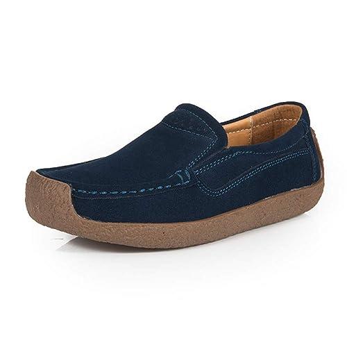 Mocasines Mujer Plataforma Loafers Planos Ante Casual Zapatillas Comodos Verano Moda Zapatos del Barco Negro Azul Beige 35-43: Amazon.es: Zapatos y ...
