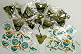 Shark Party Favor Set- 12 Shark Tooth Necklaces and 36 Tattoos
