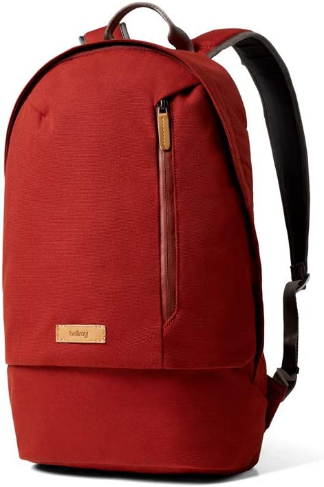 Bellroy Campus Backpack 16 liters, 15 Laptop, Spare Clothes, Wallet, Phone – Red Ochre