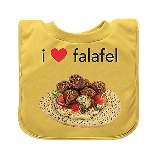 Green sprouts Favourite Foods Absorbent Pull Over Food Bib (Yellow Falafel) GS-100060-401-27