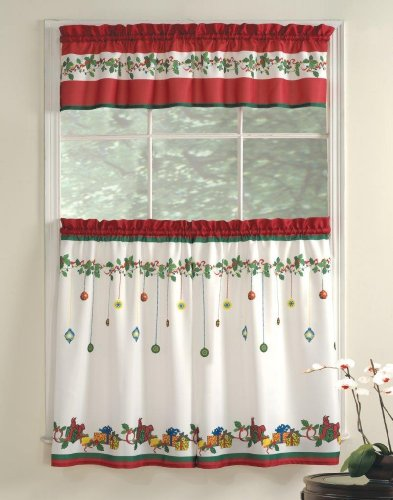 Christmas Kitchen Curtains Amazon Com