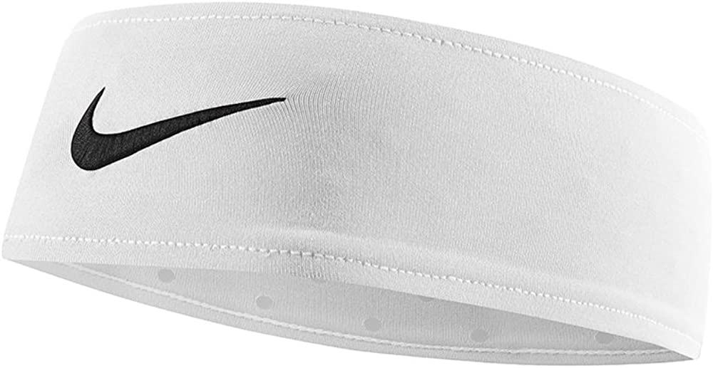Nike Fury Headband (One Size Fits Most, White/Black)