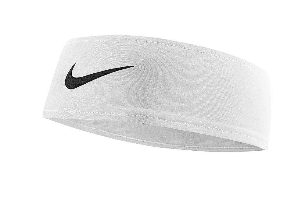 Nike Fury Headband (One Size Fits Most, White/Black) by Nike (Image #1)