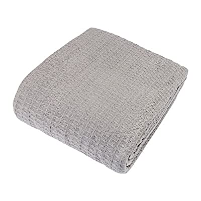 Cozy Bed CottSB108Gray Blanket, King, Gray - 100% Loom Woven Cotton Perfect for year round use Machine wash and dry - blankets-throws, bedroom-sheets-comforters, bedroom - 511xI0vKmaL. SS400  -