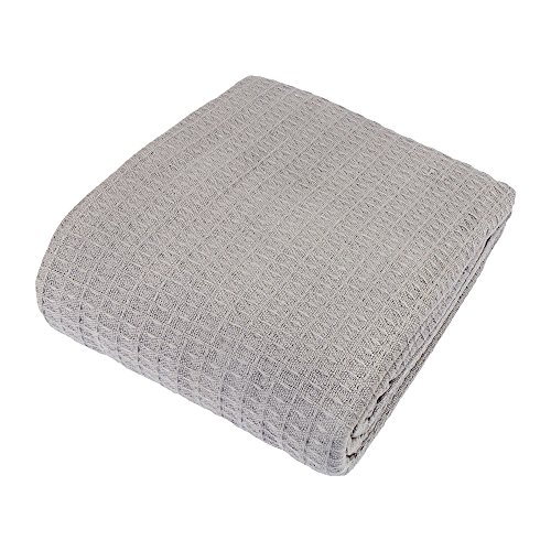 Cozy Bed - Santa Barbara Cotton Blanket, Twin, Gray