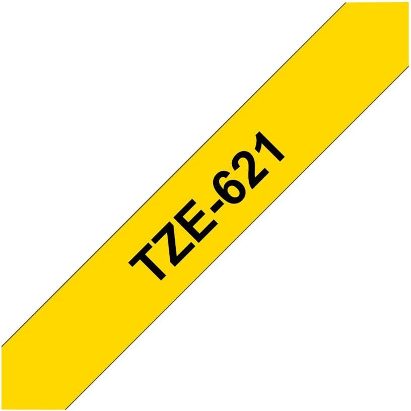 Black on Yellow Brother TZe-621 Laminated 9mm Tape Cassette Black Friday